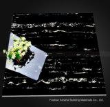 Negro esmaltado pulido luz completa del azulejo de suelo de la porcelana de la carrocería del material de construcción del azulejo de Foshan (BMG16P)
