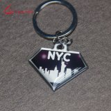 Cheap Custom maggot diamond Shaped Nyc shines Printing Keychain