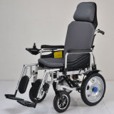 El transporte de aluminio preside el sillón de ruedas Rollator con el reposapiés