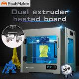 Ecubmaker Tischplatten3d Drucker, Metallrahmen Structur, optimierte Bau-Plattform, arbeitet mit TPU und Winkel des Leistungshebels, ABS