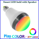 지능적인 LED 전구 무선 Bluetooth 스피커 APP 통제 색깔