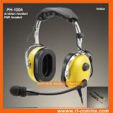 Auriculares da aviação para aviões gerais com capa protetora para as orelhas dupla