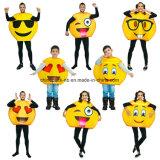 Emojiの子供(CPGC70013X)のためのおかしい表面謝肉祭の漫画党衣裳
