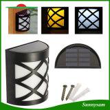 6 LED angeschaltenes Solaroutdoor Wasserdichtes Garten-Yard-Patio-Plattform-Dach-Wand-Bahn-Licht