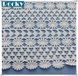 Milch-Faser-chemisches Spitze-Stickerei-Gewebe für Kleid