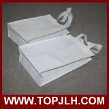 Bolso de totalizador plegable no tejido en blanco de la sublimación del blanco