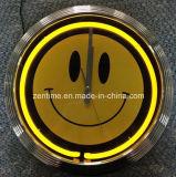 Оптовое неоновое свето часы украшения стены 15 дюймов
