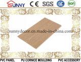 Painel de parede de madeira do teto do PVC do material de construção do plástico laminado, Cielo Raso De PVC