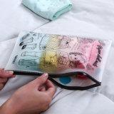 Saco portátil do Zipper do PVC da beleza da cópia feita sob encomenda do OEM com tamanho feito sob encomenda
