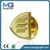 Preço barato Pin personalizado do ouro do metal com efeito do Sandblast