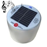 Venta al por mayor linterna solar inflable con altavoz Bluetooth impermeable
