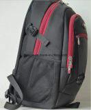 """Zoll-Multifunktionsnylonnotizbuch-/Laptop-Rucksack-Beutel des China-Lieferanten-15.6 """", schwarze praktische Art-wasserdichter Arbeitsweg-Laptop-Rucksack für MacBook"""