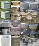 自然な切り分ける石造りの植木鉢