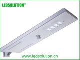 Luz de calle al aire libre de la iluminación LED con el panel solar