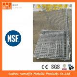 Jaulas de acero superficiales del almacenaje del cinc con las ruedas, Cage&#160 bloqueable; para Singapur