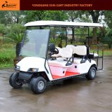 6 Passenger Ce Approved Hotel Electric Golf Cart (bancos traseiros traseiros traseiros)