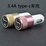 Tipo cargador de RoHS 5V3.4A del Ce de la FCC pequeño del coche del USB de C