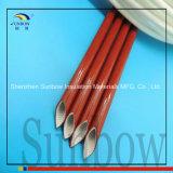 2753 de alta temperatura se extingue solo Vo-Grado de combustión lenta Resina de silicona recubierto de fibra de vidrio que envuelve