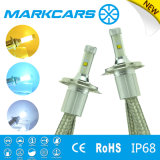 Markcars 노란 백색 파랑을%s 가진 자동 차 LED 겹살 헤드라이트 H4