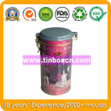 Contenitore con figura rotonda, latte del tè del metallo del tè