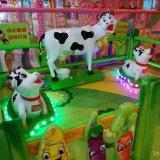 Самая новая и смешная установленная корова темы фермы оборудования спортивной площадки (MC004)