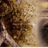 l'ours Pigment&Disperse de 100%Polyester Brown a estampé le tissu pour le jeu de literie