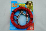 頑丈な犬のタイはケーブルで通信する/PVCによって塗られる/30FT (KC0081)を