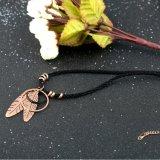 Halsband van de Sweater van de Tegenhanger van het Blad van de Kabel van dame Jewelry Roestvrij staal de Lange
