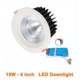 15W ajustable Downlight ahorro de energía 60 grados adornó proyectores