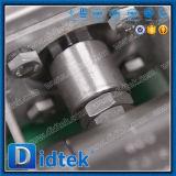 Robinet à tournant sphérique pneumatique de flottement d'entraînement d'acier inoxydable de Didtek