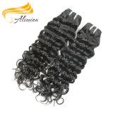 Extensões amarradas do cabelo de Remy do Virgin do cabelo humano mão cheia