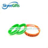 Abitudine impressa e braccialetti del Wristband del silicone di Debossed