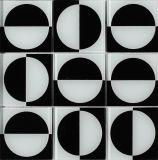 خداع حارّة [موسيك فلوور تيل] بيضاء زجاجيّة