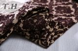 2017 grandes fleurs de Brown de tissu de Chenille de tissu de jacquard faites dans l'usine chinoise