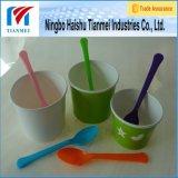 Taza de papel disponible de Customed con la cuchara