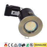 Ce RoHS Bezel réglable Fixed Fire Rated Downlight GU10