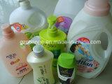Тензид лосьона шампуня разливает машину для прикрепления этикеток по бутылкам