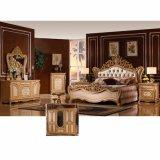 كلاسيكيّة غرفة نوم ثبت أثاث لازم مع ملك [بد] وخزانة ([و815ا])