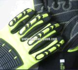 Перчатка ударопрочного микро- волокна защитная TPR с эластичным Cuff-5058