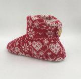 Ботинки красной Средний-Икры Knit крытые для Lds