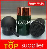 Do preto fibras do edifício do cabelo da queratina inteiramente ao cabelo de diluição do volume