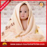 Cobertor coral do bebê do velo para os bebés e os bebés