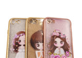 Случай мобильного телефона девушки цветка прозрачный TPU яркия блеска платья венчания диаманта Headwear (XSDD-069)
