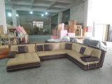Sofá do couro da forma de U para o sofá secional moderno com o grande sofá de canto para o sofá da sala de visitas