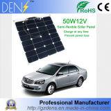 comitato monocristallino flessibile di energia solare di 12V 50W Sunpower