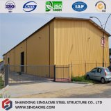 Edificio de acero prefabricado certificado mundial/Constrction/almacén