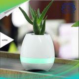 Piano coloré de jeu du Flowerpot sec créateur DEL de haut-parleurs sur le haut-parleur inductif de Bluetooth de bacs de fleur de musique de centrale réelle