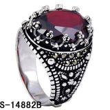 남자를 위한 모조 보석 반지 은 925