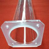 Freies Quarz-Ofen-Gefäß mit großer Flansch-und Kugel-Hauptverbindung