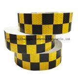 Leuchtstoff und schwarze Checkered anhaftende reflektierende Sicherheits-warnendes Band (C3500-G)